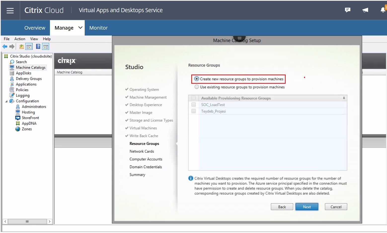 Citrix on Azure: Machine Creation Services & AzureDocs