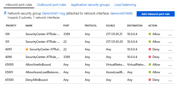 Azure Just In Time VM Access
