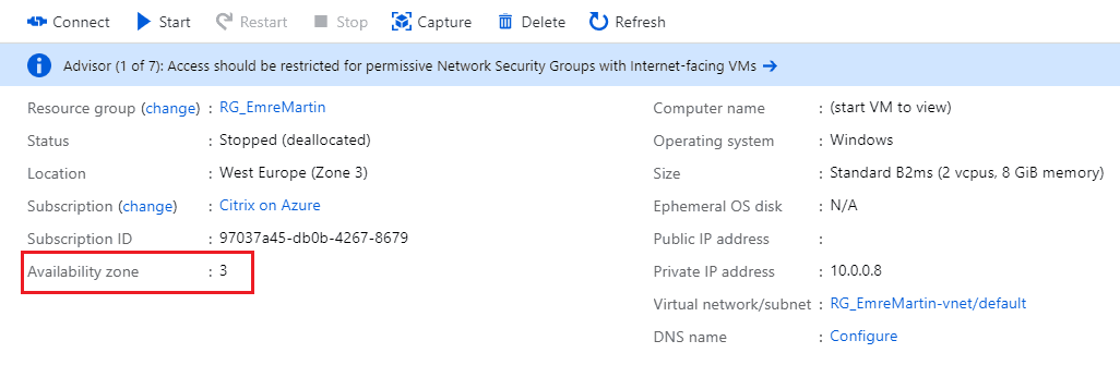 Azure Availability Zones Check