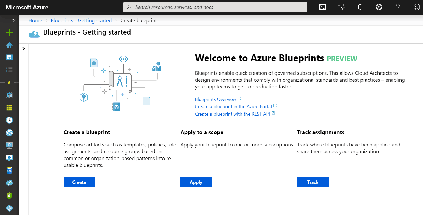 Create a Azure Blueprint